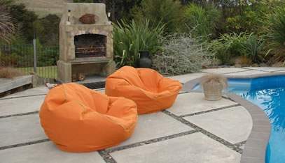 Relax in the sun, on your deck, around the BBQ or on a boat with an outdoor  bean bag. - Bean Bags NZ NZ Made Beanbags And Beans Beanbags & Beyond